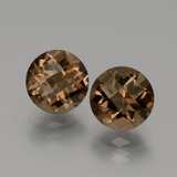 thumb image of 3.7ct Round Checkerboard Brown Smoky Quartz (ID: 440144)