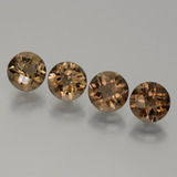 thumb image of 4.8ct Round Checkerboard Brown Smoky Quartz (ID: 440152)