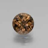 thumb image of 1.7ct Round Checkerboard Brown Smoky Quartz (ID: 440190)