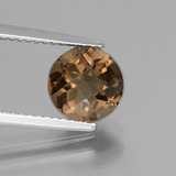 thumb image of 1.9ct Round Checkerboard Brown Smoky Quartz (ID: 440192)