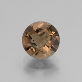 thumb image of 1.9ct Round Checkerboard Brown Smoky Quartz (ID: 440195)