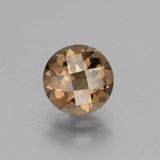 thumb image of 1.7ct Round Checkerboard Brown Smoky Quartz (ID: 440199)