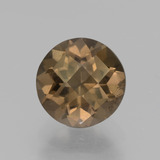 thumb image of 1.9ct Round Checkerboard Brown Smoky Quartz (ID: 440286)