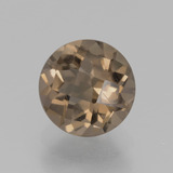 thumb image of 1.9ct Round Checkerboard Brown Smoky Quartz (ID: 440287)