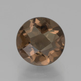 thumb image of 2.1ct Round Checkerboard Brown Smoky Quartz (ID: 440289)