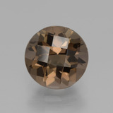 thumb image of 1.9ct Round Checkerboard Brown Smoky Quartz (ID: 440290)