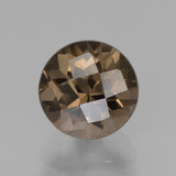 thumb image of 1.9ct Round Checkerboard Brown Smoky Quartz (ID: 440292)
