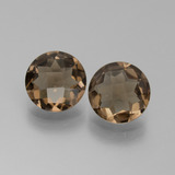 thumb image of 2.9ct Round Checkerboard Brown Smoky Quartz (ID: 442829)