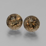 thumb image of 2ct Round Checkerboard Brown Smoky Quartz (ID: 442833)