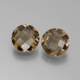 thumb image of 2.7ct Round Checkerboard Brown Smoky Quartz (ID: 442834)
