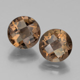 thumb image of 3.6ct Round Checkerboard Brown Smoky Quartz (ID: 442852)
