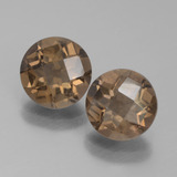 thumb image of 3.2ct Round Checkerboard Brown Smoky Quartz (ID: 442855)