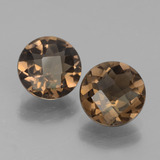 thumb image of 3.2ct Round Checkerboard Brown Smoky Quartz (ID: 442861)