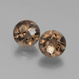 thumb image of 3.8ct Round Checkerboard Brown Smoky Quartz (ID: 442877)