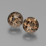 thumb image of 3.7ct Round Checkerboard Brown Smoky Quartz (ID: 442882)