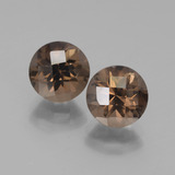 thumb image of 3.8ct Round Checkerboard Brown Smoky Quartz (ID: 442885)