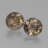 thumb image of 3.2ct Round Checkerboard Brown Smoky Quartz (ID: 442924)