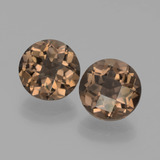 thumb image of 3.4ct Round Checkerboard Brown Smoky Quartz (ID: 442930)