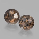 thumb image of 3.6ct Round Checkerboard Brown Smoky Quartz (ID: 442932)