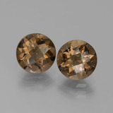 thumb image of 3.6ct Round Checkerboard Brown Smoky Quartz (ID: 442952)