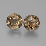 thumb image of 3.6ct Round Checkerboard Brown Smoky Quartz (ID: 442955)