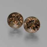thumb image of 3.6ct Round Checkerboard Brown Smoky Quartz (ID: 442956)
