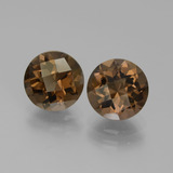 thumb image of 3.4ct Round Checkerboard Brown Smoky Quartz (ID: 442957)