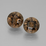 thumb image of 3.6ct Round Checkerboard Brown Smoky Quartz (ID: 442958)