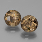 thumb image of 3.5ct Round Checkerboard Brown Smoky Quartz (ID: 443032)
