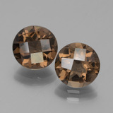 thumb image of 3.1ct Round Checkerboard Brown Smoky Quartz (ID: 443037)