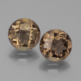 thumb image of 3.2ct Round Checkerboard Brown Smoky Quartz (ID: 443038)