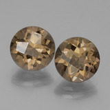 thumb image of 3.6ct Round Checkerboard Brown Smoky Quartz (ID: 443041)