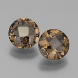 thumb image of 2.9ct Round Checkerboard Brown Smoky Quartz (ID: 443043)