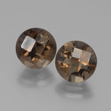 thumb image of 3.9ct Round Checkerboard Brown Smoky Quartz (ID: 443060)