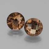 thumb image of 3.4ct Round Checkerboard Brown Smoky Quartz (ID: 443062)