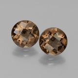 thumb image of 2.9ct Round Checkerboard Brown Smoky Quartz (ID: 443064)
