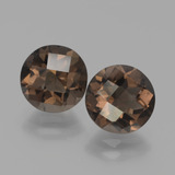 thumb image of 3.3ct Round Checkerboard Brown Smoky Quartz (ID: 443083)
