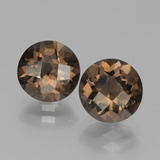 thumb image of 3.3ct Round Checkerboard Brown Smoky Quartz (ID: 443084)