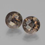 thumb image of 3.7ct Round Checkerboard Brown Smoky Quartz (ID: 443088)