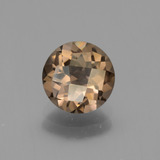 thumb image of 1.6ct Round Checkerboard Brown Smoky Quartz (ID: 443116)