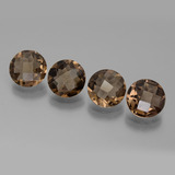 thumb image of 6.1ct Round Checkerboard Brown Smoky Quartz (ID: 443161)