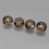thumb image of 5.4ct Round Checkerboard Brown Smoky Quartz (ID: 443163)