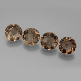 thumb image of 5.8ct Round Checkerboard Brown Smoky Quartz (ID: 443164)
