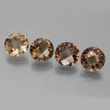 thumb image of 6.6ct Round Checkerboard Brown Smoky Quartz (ID: 443166)
