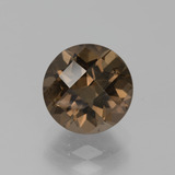 thumb image of 2.2ct Round Checkerboard Brown Smoky Quartz (ID: 443170)