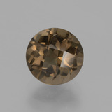 thumb image of 2ct Round Checkerboard Brown Smoky Quartz (ID: 443176)