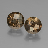 thumb image of 3.6ct Round Checkerboard Brown Smoky Quartz (ID: 448067)