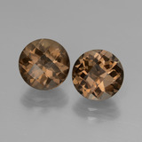 thumb image of 3.6ct Round Checkerboard Brown Smoky Quartz (ID: 448072)