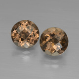thumb image of 3.6ct Round Checkerboard Brown Smoky Quartz (ID: 448074)