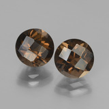 thumb image of 3.7ct Round Checkerboard Brown Smoky Quartz (ID: 448143)